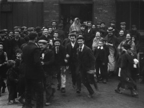 Operatives Leaving Messrs Pilkington Bros. Works, St Helens (1901)