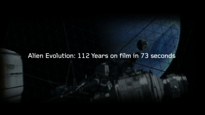 Alien evolution: 112 years on film in 73 seconds