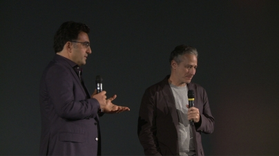 Jon Stewart and Maziar Bahari introduce Rosewater