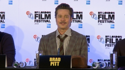 Brad Pitt and a host of stars speak at the Fury press Q&A