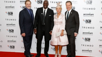 Trumbo red carpet with Bryan Cranston