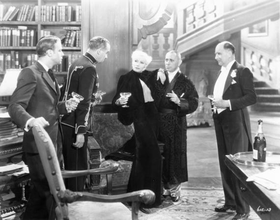 Warburton Gamble, Roland Varno, Albert Conti, Greta Garbo, Erich von Stroheim