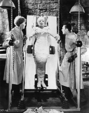 Ernest Thesiger, Elsa Lanchester, Colin Clive