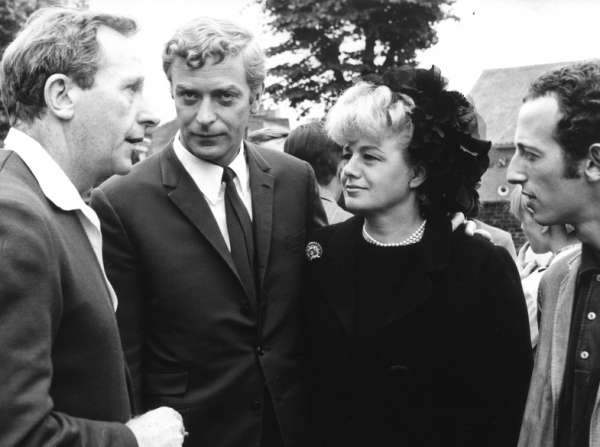 Lewis Gilbert, Michael Caine, Shelley Winters