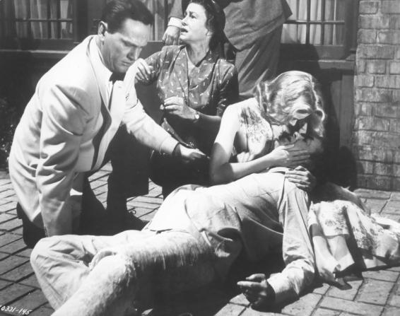 Wendell Corey, Thelma Ritter, Grace Kelly, James Stewart