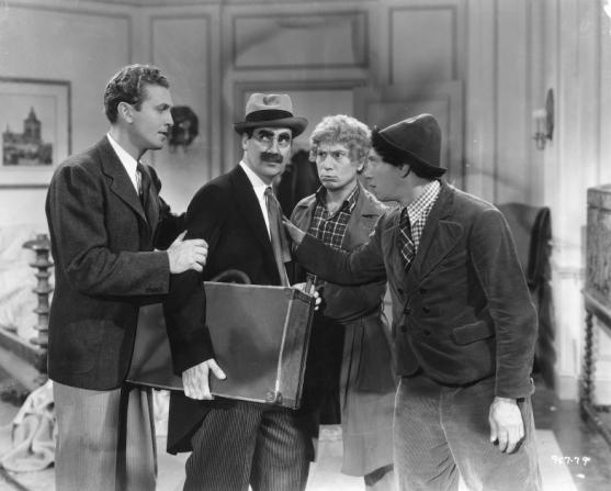 Allan Jones, Groucho Marx, Harpo Marx, Chico Marx