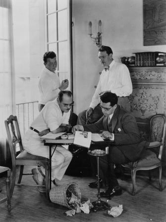 Del Andrews, George Cukor, Lewis Milestone, Maxwell Anderson