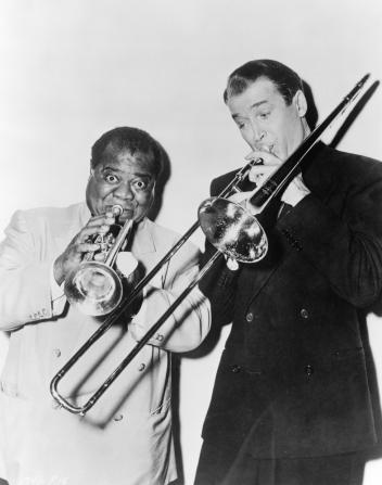 Louis Armstrong, James Stewart