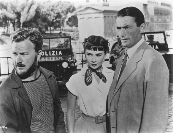 Eddie Albert, Audrey Hepburn, Gregory Peck