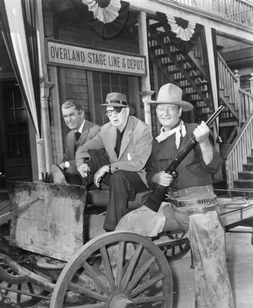 James Stewart, John Ford, John Wayne