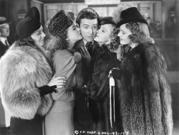 Adrian Booth, Dorothy Comingore, Astrid Allwyn, Frances Gifford, James Stewart