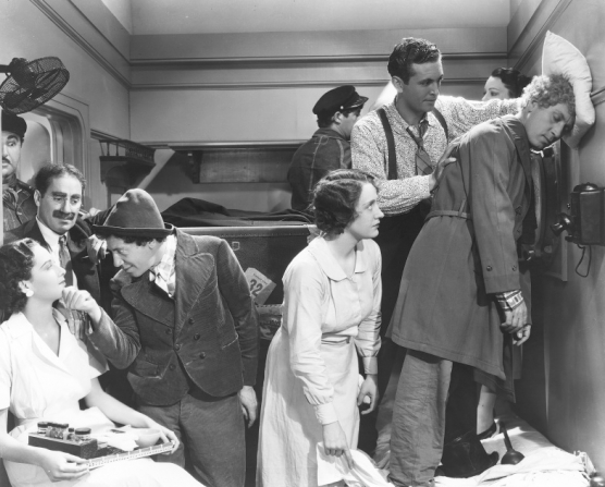 Groucho Marx, Chico Marx, Allan Jones, Harpo Marx
