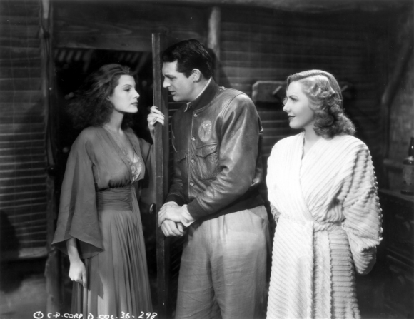 Rita Hayworth, Cary Grant, Jean Arthur
