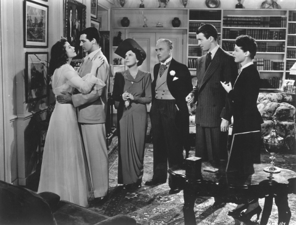 Katharine Hepburn, Cary Grant, Mary Nash, John Halliday, James Stewart, Ruth Hussey