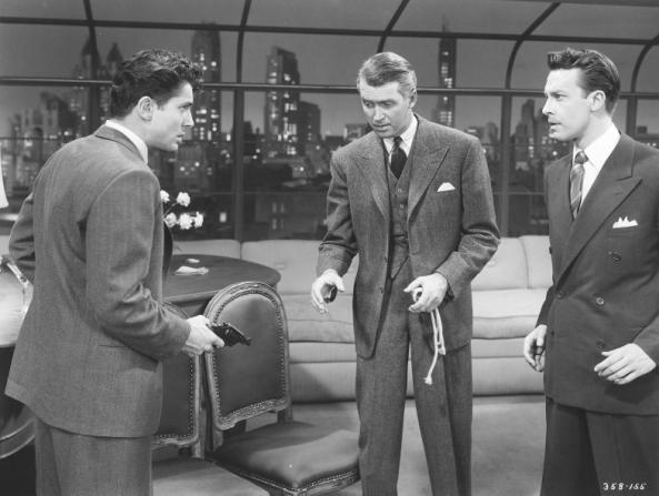Farley Granger, James Stewart, John Dall