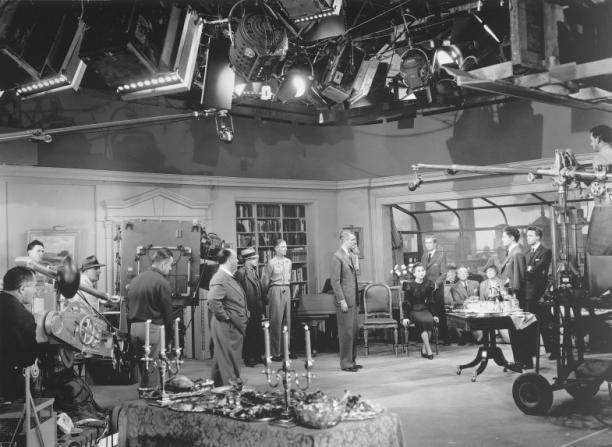 Farley Granger, James Stewart, Alfred Hitchcock, John Dall