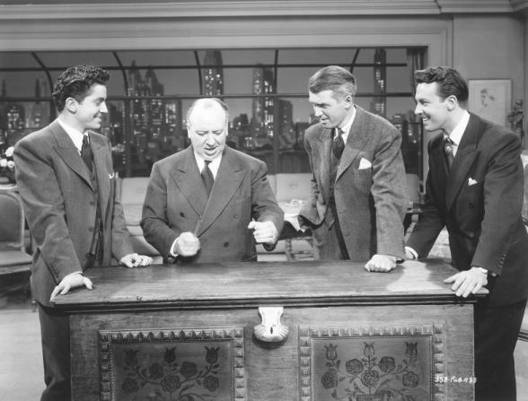 Alfred Hitchcock, James Stewart, John Dall