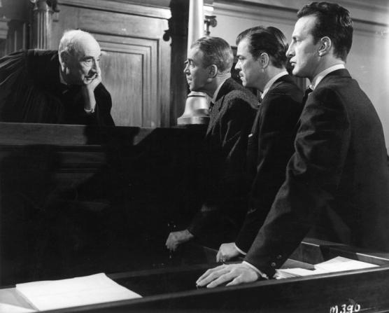 Joseph N. Welch, James Stewart, Brooks West, George C. Scott