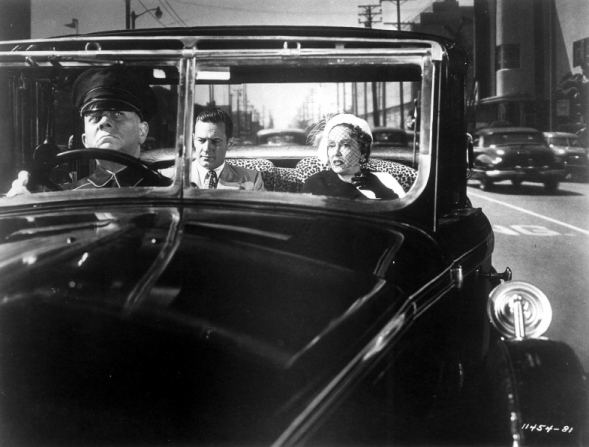 Erich von Stroheim, William Holden, Gloria Swanson