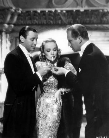 Herbert Marshall, Marlene Dietrich, Melvyn Douglas