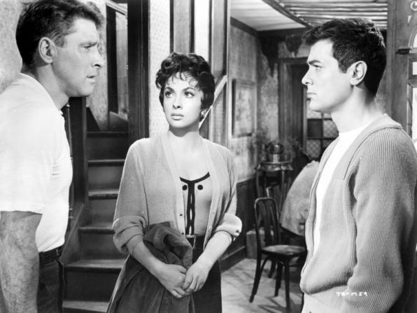Burt Lancaster, Gina Lollobrigida, Tony Curtis