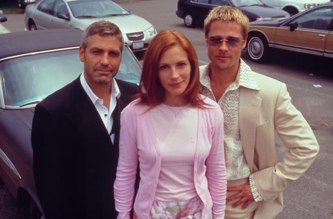 George Clooney, Julia Roberts, Brad Pitt