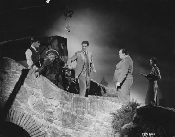 Robert Donat, Madeleine Carroll, Alfred Hitchcock
