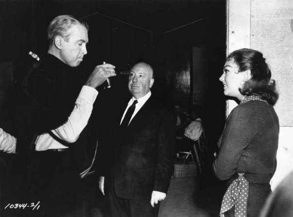 James Stewart, Alfred Hitchcock, Kim Novak