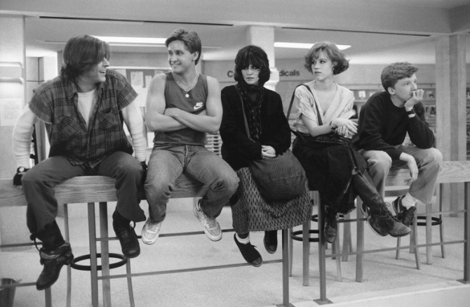 Judd Nelson, Emilio Estevez, Anthony Michael Hall, Ally Sheedy, Molly Ringwald