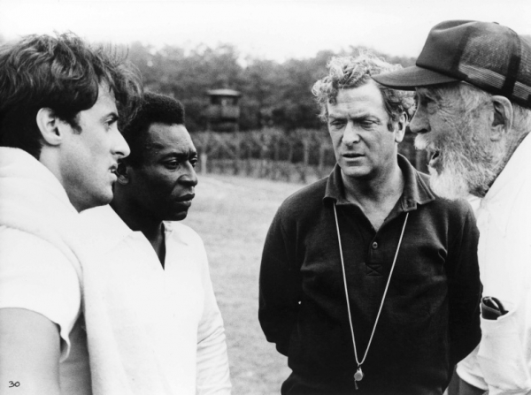 Sylvester Stallone, Pelé, Michael Caine, John Huston