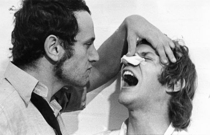 Steven Berkoff, Malcolm McDowell