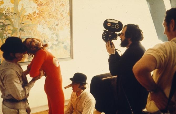 Malcolm McDowell, Stanley Kubrick, Adrienne Corri