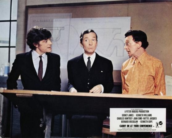Richard O'Callaghan, Kenneth Williams, Charles Hawtrey