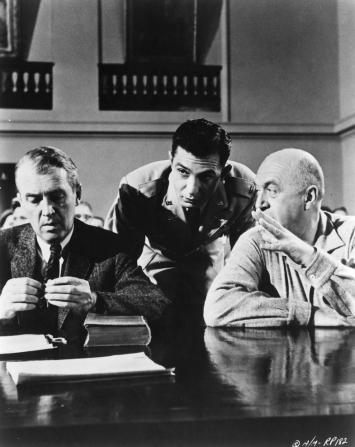 James Stewart, Ben Gazzara, Otto Preminger