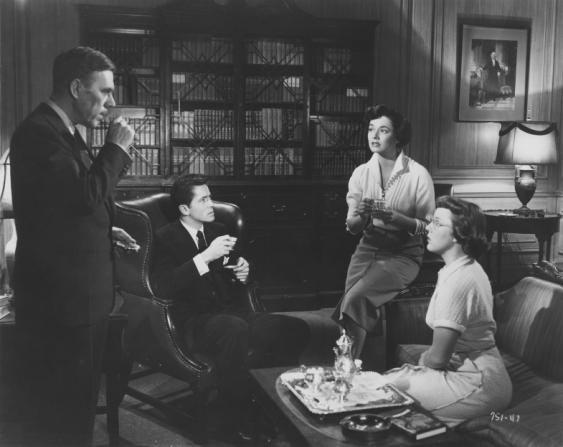 Leo G. Carroll, Farley Granger, Ruth Roman, Patricia Hitchcock