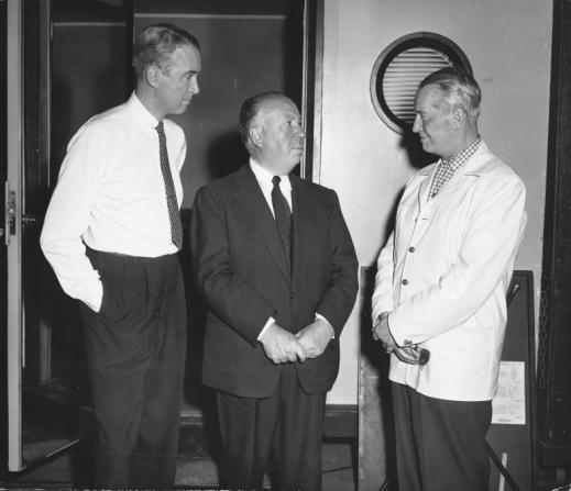 James Stewart, Alfred Hitchcock, Maurice Chevalier
