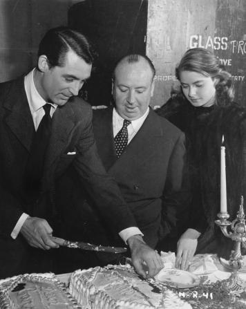 Alfred Hitchcock, Cary Grant, Ingrid Bergman