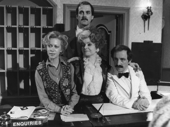 Connie Booth, John Cleese, Prunella Scales, Andrew Sachs