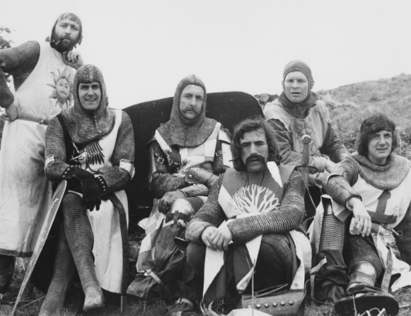 Graham Chapman, John Cleese, Michael Palin, Terry Jones, Eric Idle, Terry Gilliam