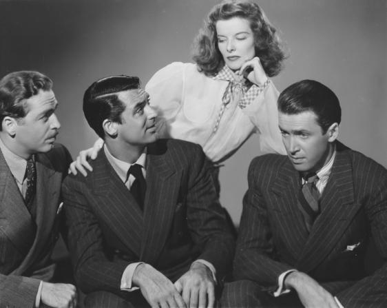 John Howard, Cary Grant, Katharine Hepburn, James Stewart