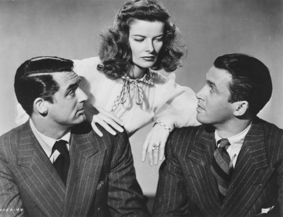 Cary Grant, Katharine Hepburn, James Stewart