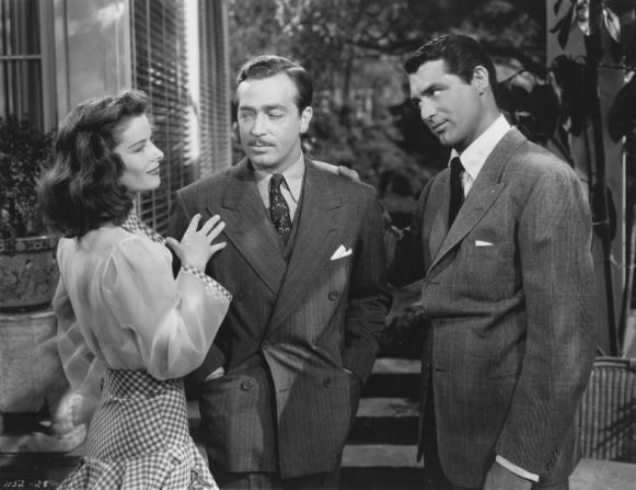 Katharine Hepburn, John Howard, Cary Grant