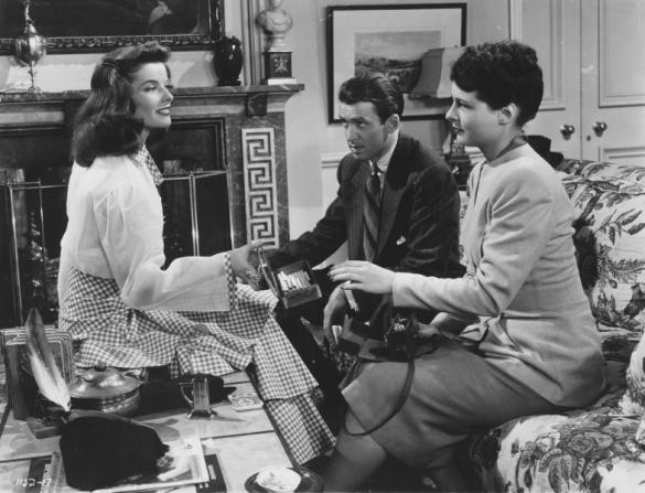 Katharine Hepburn, James Stewart, Ruth Hussey