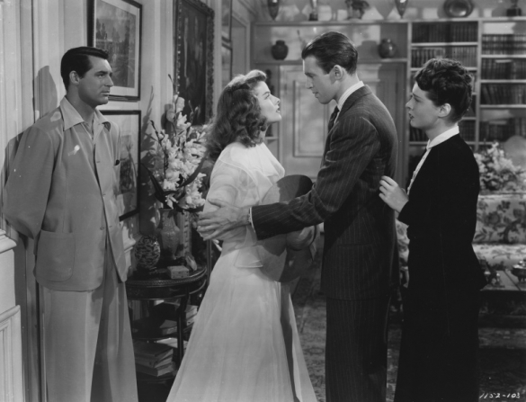 Cary Grant, Katharine Hepburn, James Stewart, Ruth Hussey