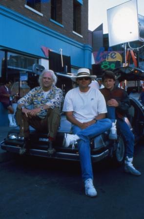Christopher Lloyd, Robert Zemeckis, Michael J. Fox