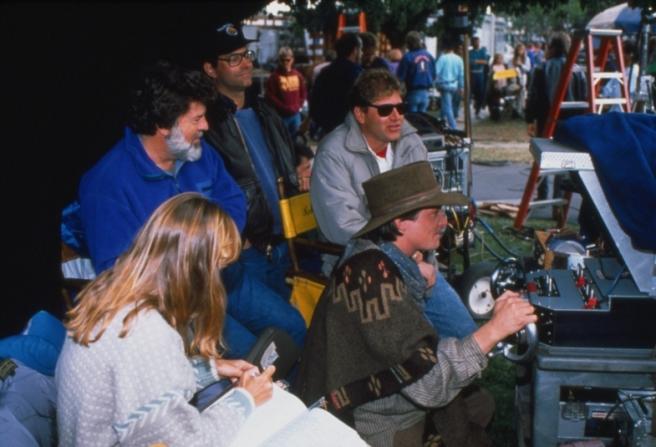 Bob Gale, Robert Zemeckis, Michael J. Fox