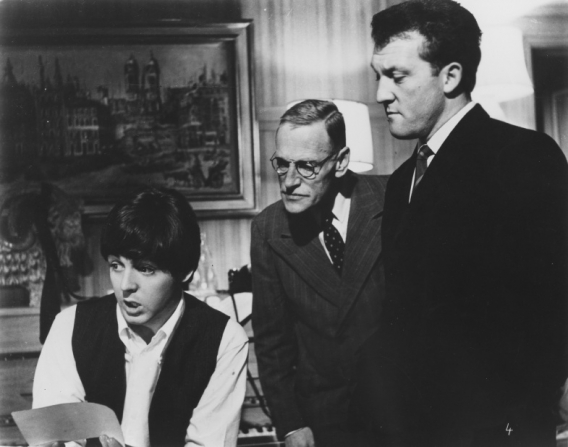 Paul McCartney, Wilfrid Brambell, Norman Rossington