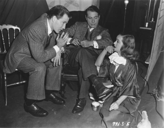 Hugh Marlowe, Gary Merrill, Bette Davis