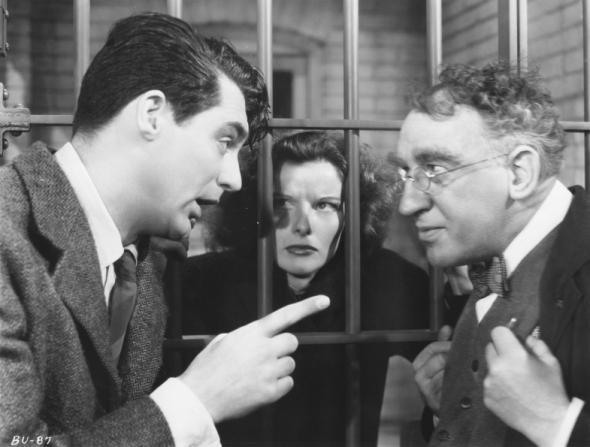Cary Grant, Katharine Hepburn, Walter Catlett