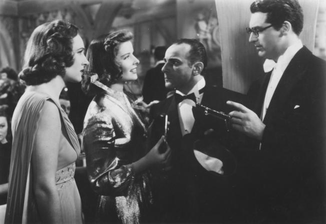 Tala Birell, Katharine Hepburn, Fritz Feld, Cary Grant